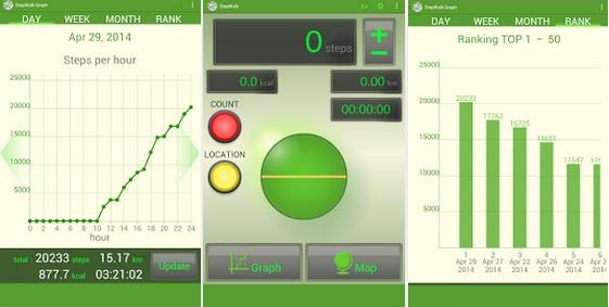StepWalk pedometer android app
