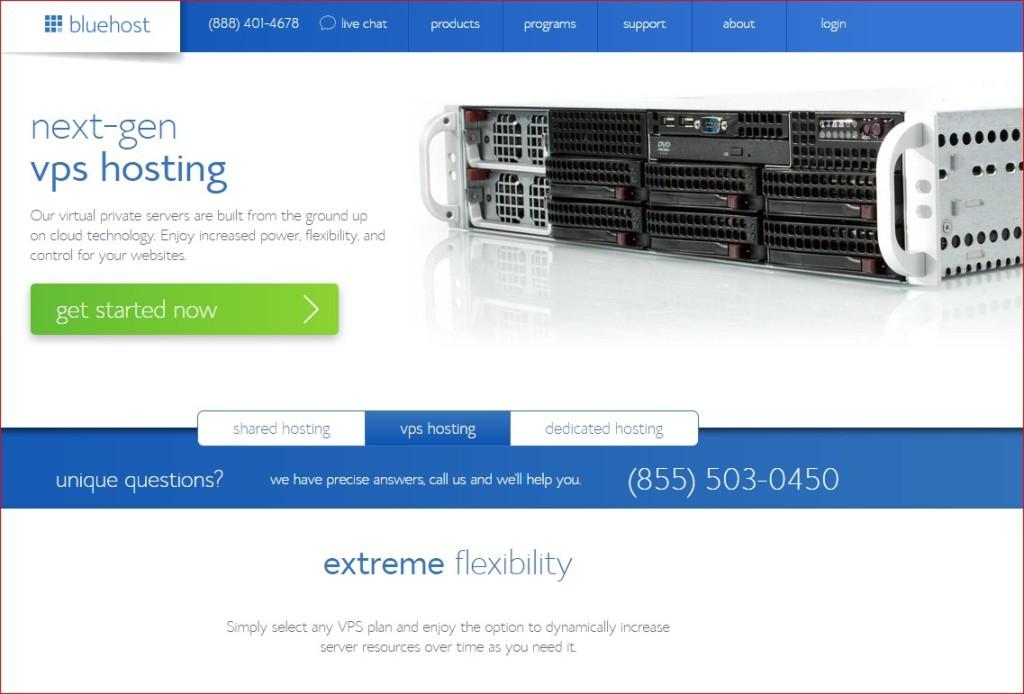 best vps host provider - bluehost