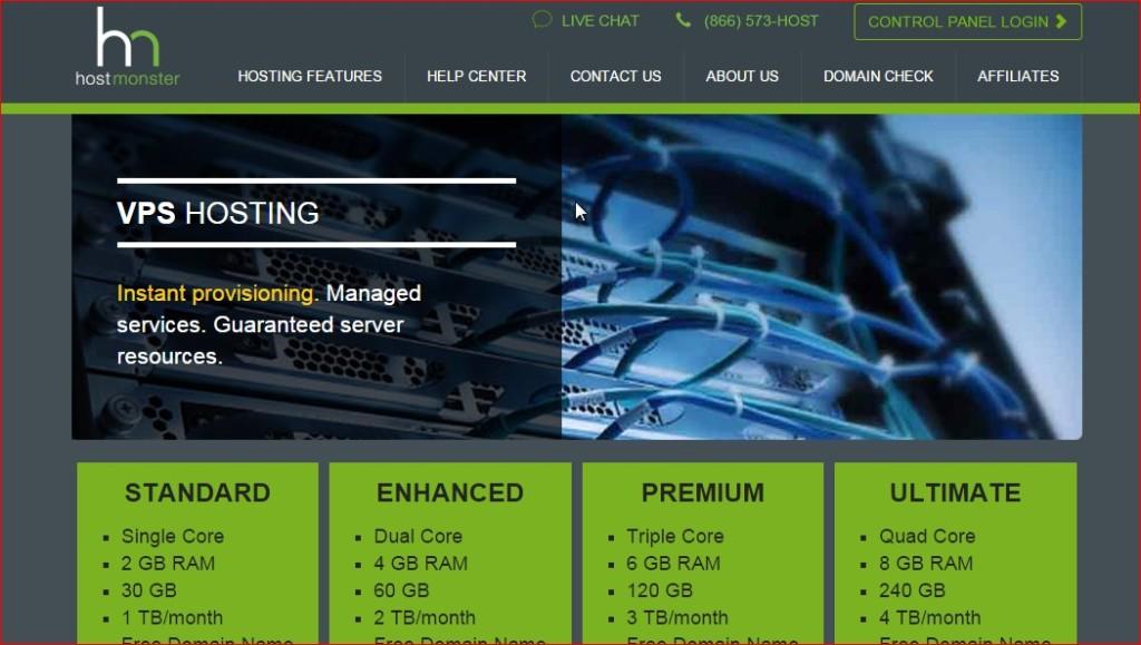 best vps host provider - hostmonster