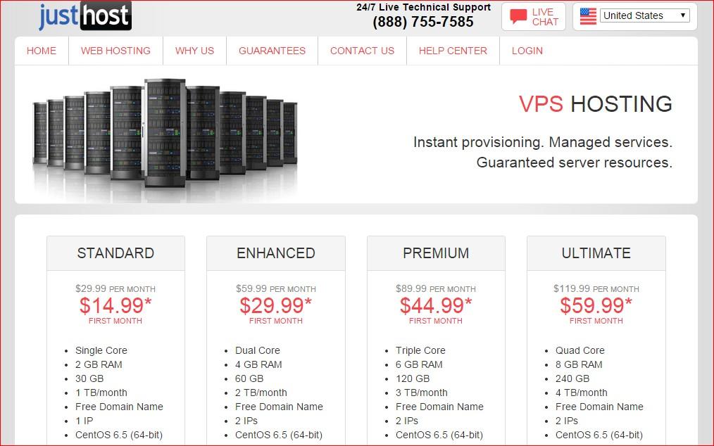 best vps host provider - justhost