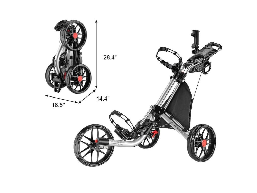 CaddyTekEZ-Fold 3 Wheel Golf Push Cart Review