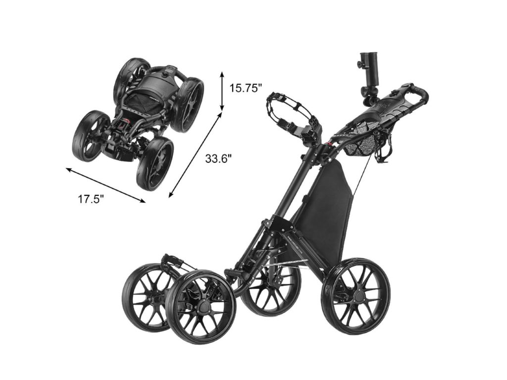 CaddyTek 4 Wheel (Version 3) Golf Push Cart Review