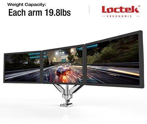 Loctek Full Motion Triple Monitor Mounts – Best Triple Monitor Stand
