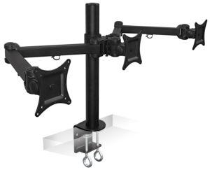 Mount-It! MI-753–Best 24 Inch Triple Monitor Stand